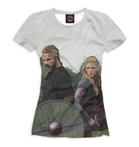 Женская футболка Рагнар и Лагерта