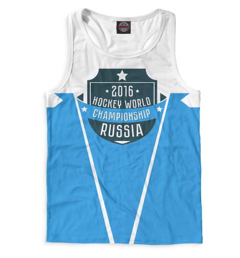 Мужская майка-борцовка Россия 2016 Print Bar HOK-672201-mayb-2