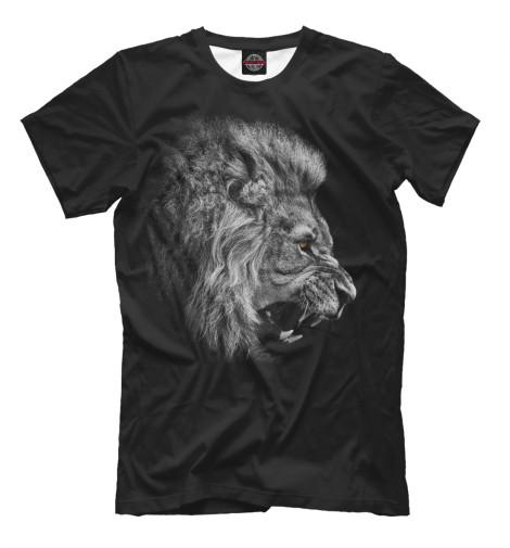 Футболка Print Bar Лев рычащий детская футболка классическая унисекс printio рычащий лев