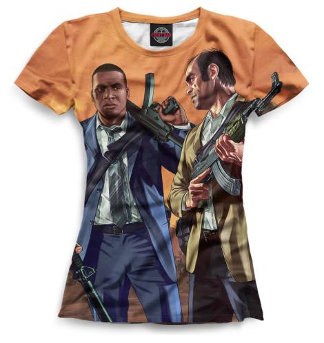 Женская футболка Тревор и Франклин