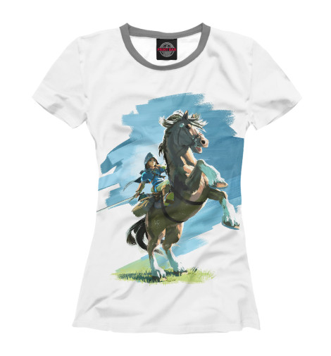 Футболка Print Bar The Legend of Zelda Horses черепаха плетёная zelda