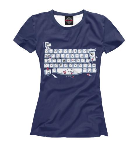 Футболка Print Bar Keyboard Fun футболка print bar bike for fun