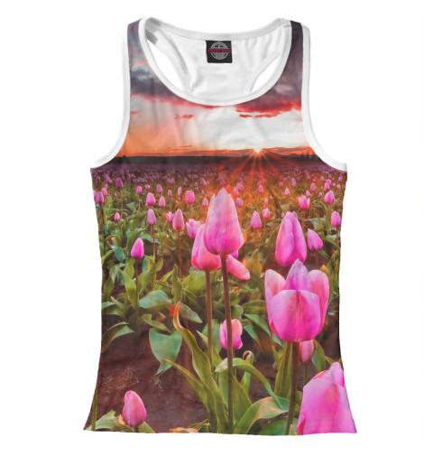 Майка борцовка Print Bar Розовые тюльпаны харьков сортовые тюльпаны 2014