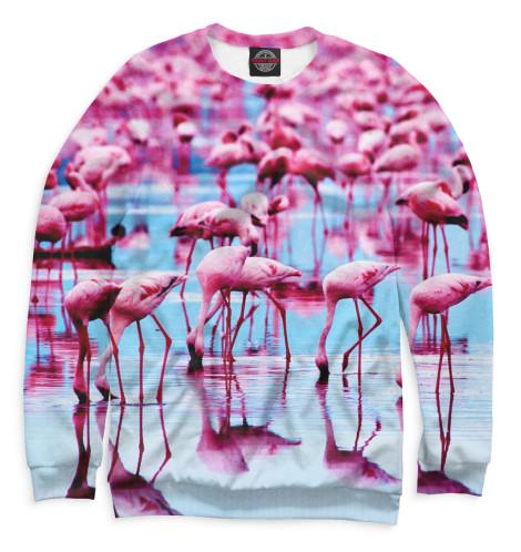Женский свитшот Розовые фламинго