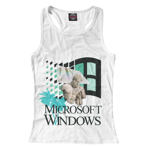 Майка борцовка Print Bar Windows webpunk windows