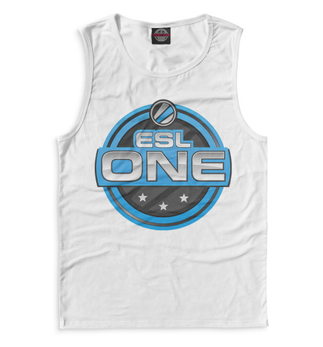 Мужская майка ESL One Logo White