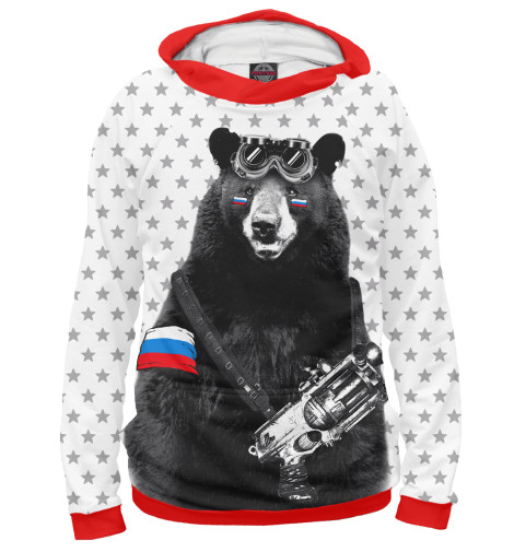 Худи Print Bar Армейский медведь