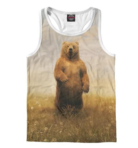 Майка борцовка Print Bar Мишка майка борцовка print bar бурый медведь