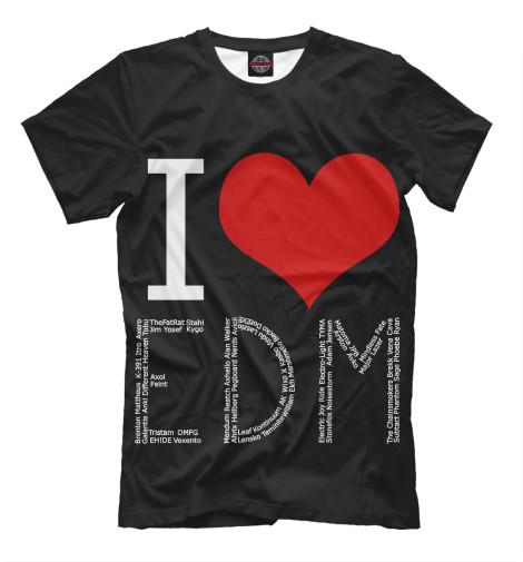 Футболка Print Bar I love EDM