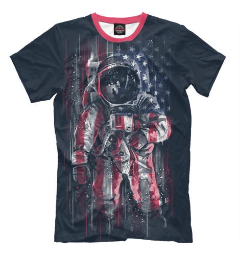 Футболка Print Bar Американский астронавт футболка print bar астронавт в огне