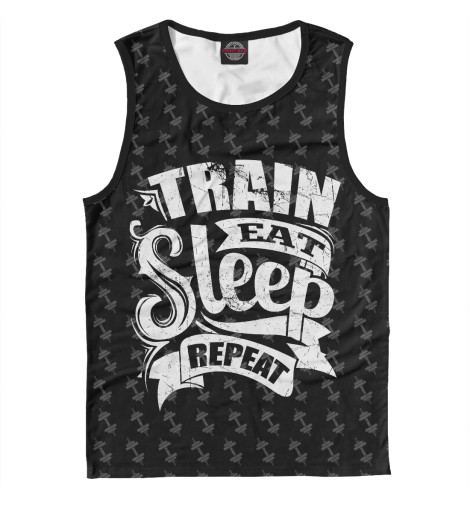 Майка Print Bar Train Eat Sleep Repeat майка print bar train eat sleep repeat