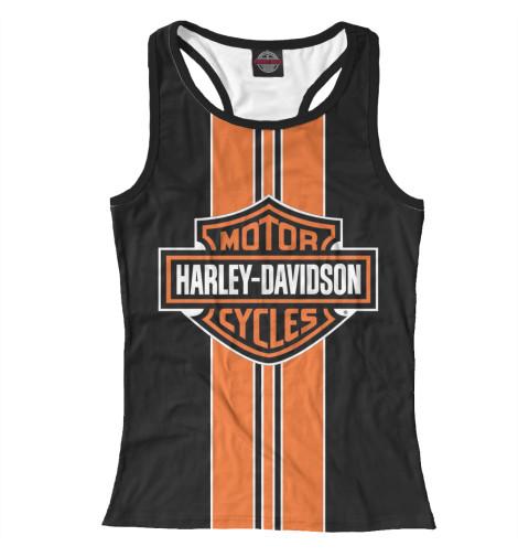 Майка борцовка Print Bar Harley-Davidson chrome custom motorcycle skeleton mirrors for harley davidson softail heritage classic