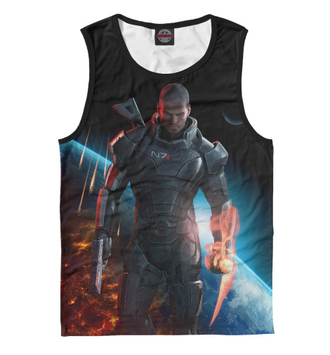 Майка Print Bar Mass Effect — Шепард mass effect volume 4 homeworlds