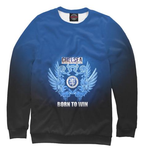 Фото - Женский свитшот Chelsea - Born to win от Print Bar белого цвета
