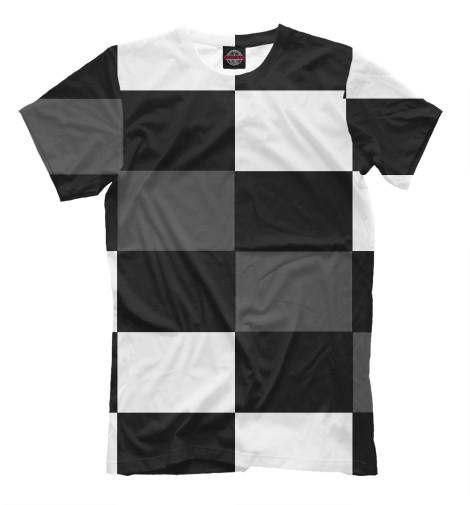 цена  Футболка Print Bar Шахматная клетка  онлайн в 2017 году