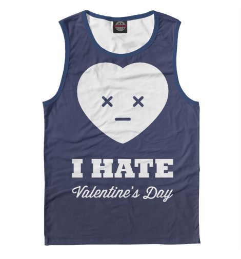 Майка Print Bar I hate Valentines day bicycle lpv love promise of vow poke valentines day gifts