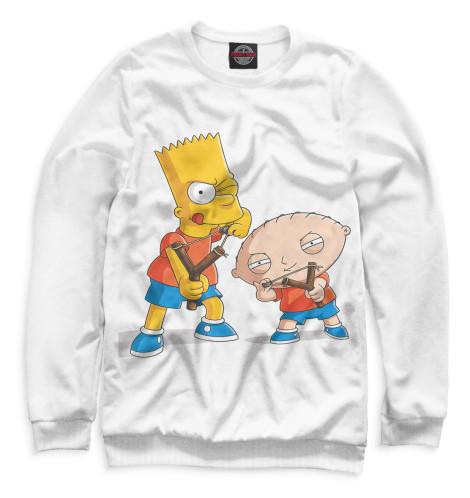 Женский свитшот Барт и Стьюи