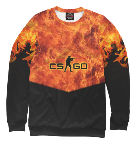 Свитшот Print Bar CS GO: Fire худи print bar cs go asiimov black