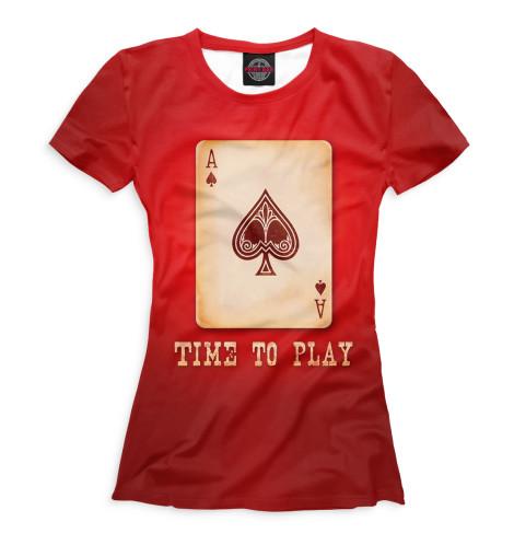 Женская футболка Покер