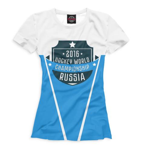 Женская футболка Россия 2016 Print Bar HOK-672201-fut-1