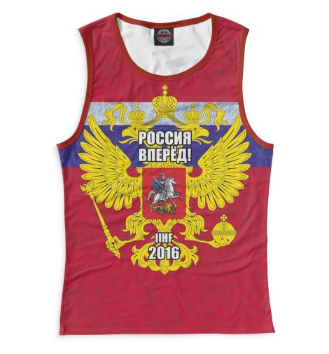 Женская майка Россия вперед! Print Bar HOK-471232-may-1
