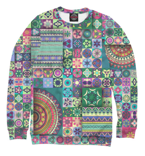 Свитшот Print Bar Мозаика цветов мозаика 654 элемента 11 цветов 40 этюдов