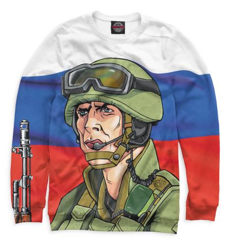 Мужской свитшот Солдат