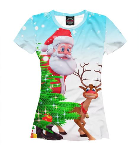 Футболка Print Bar Дед Мороз и Олень