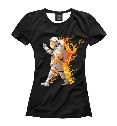 Футболка Print Bar Астронавт в огне футболка print bar астронавт в огне