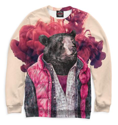 Мужской свитшот Медведь в жилетке