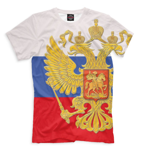 Мужская футболка Триколор и герб