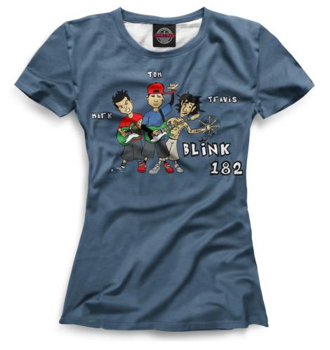 Женская футболка blink-182