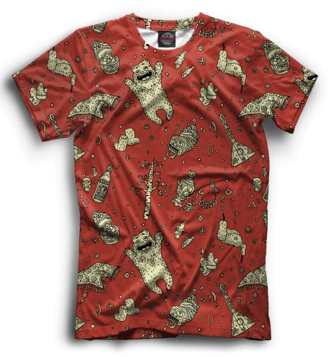 Мужская футболка Медведи и балалайки