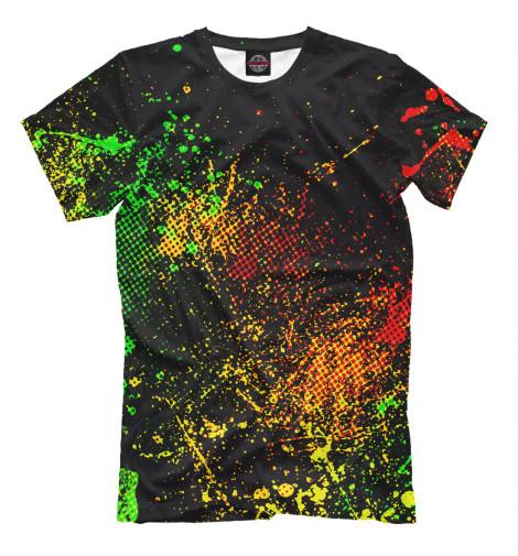 Купить Мужская футболка Брызги красок APD-689667-fut-2