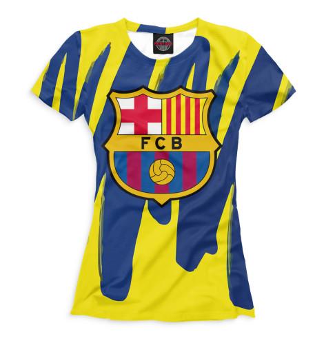 Женская футболка Герб FC Barcelona
