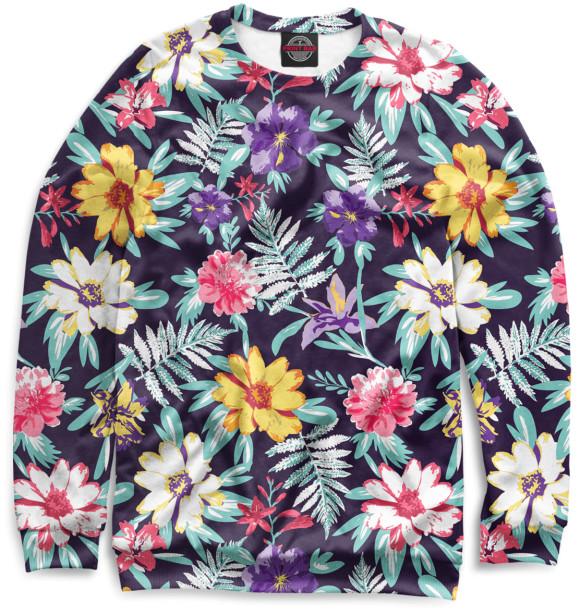 Купить Свитшот для девочек Цветы CVE-506550-swi-1