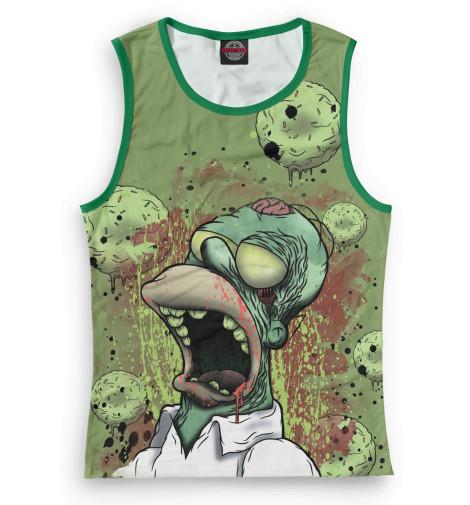 Женская майка Гомер-зомби