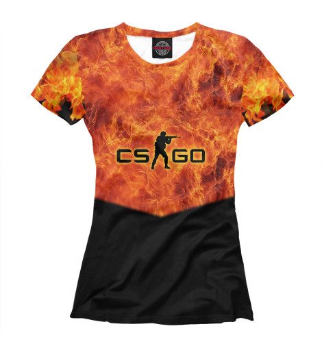 Футболка Print Bar CS GO: Fire худи print bar cs go asiimov black