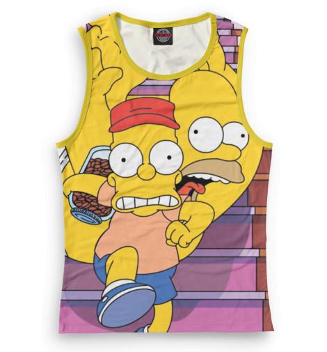 Женская майка Барт и Гомер