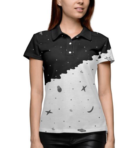 Поло Print Bar Черно-белое небо картленд барбара звездное небо гонконга