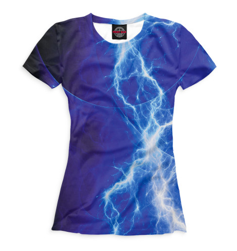Женская футболка Молния