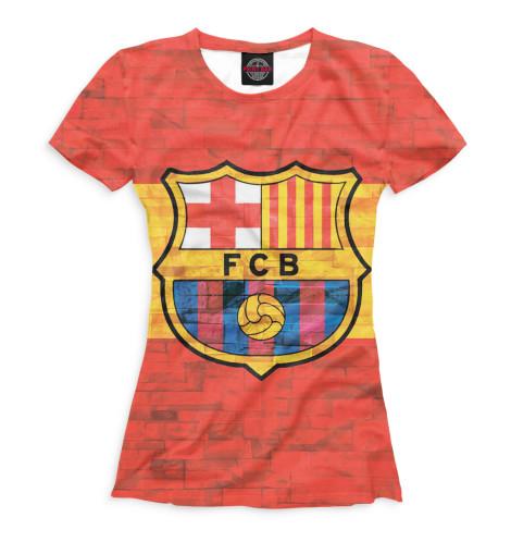 Женская футболка FCB стена