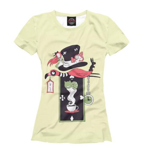Футболка Print Bar Алиса в стране чудес футболка классическая printio алиса в стране чудес