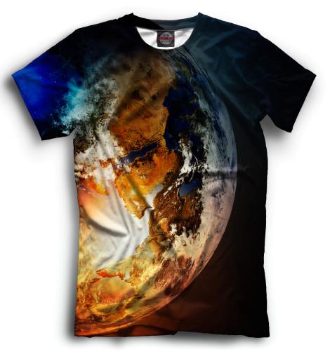 Мужская футболка Земля