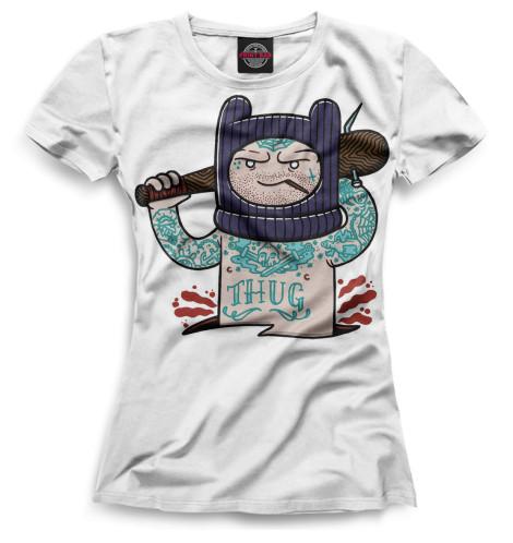 Женская футболка Финн