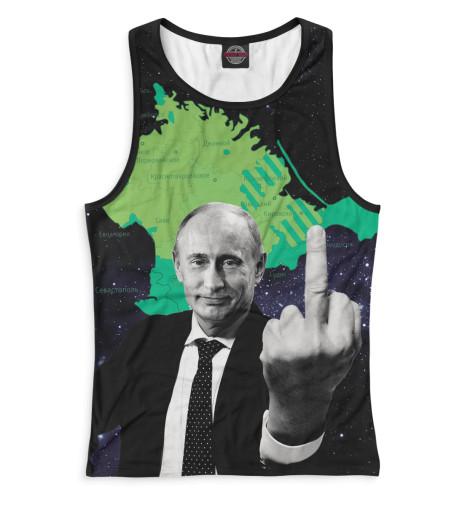 Женская майка-борцовка Путин