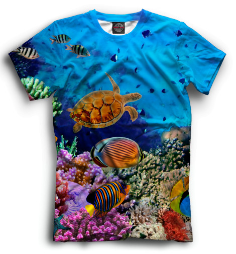 Мужская футболка Подводный мир