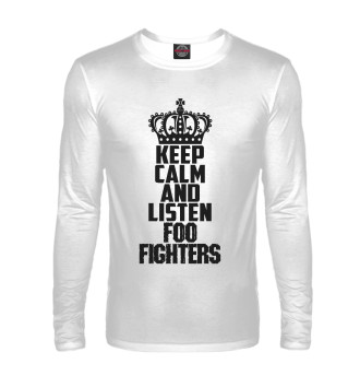 Мужской Лонгслив Keep calm and listen Foo Fighters