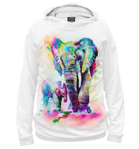 Худи Print Bar Слонёнок с мамой каталки альтернатива башпласт слонёнок