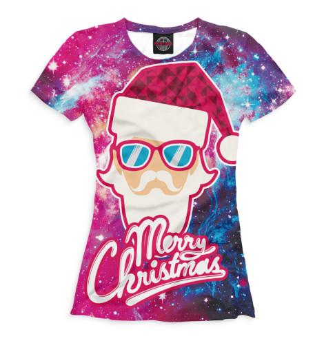 Фото - Женская футболка Merry Christmas от Print Bar белого цвета
